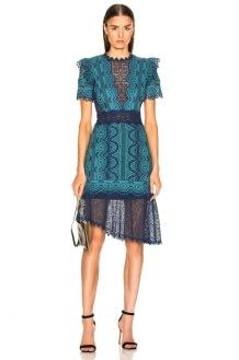 SEA Lola Lace Short Sleeve Dress