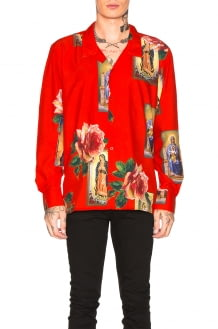 Civil Regime Holy Floral Long Sleeve Shirt