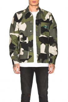 Nudie Jeans GREEN Paul Camo Jacket