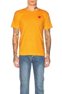 Comme Des Garcons PLAY Red Heart Emblem Tee