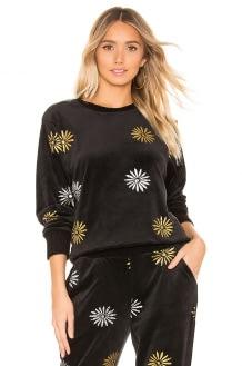 Splendid x MARGHERITA Velluto Daisy Pullover Sweatshirt
