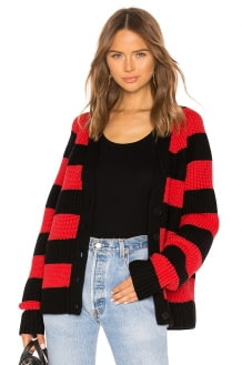 T by Alexander Wang Rugby Stripe Cardigan