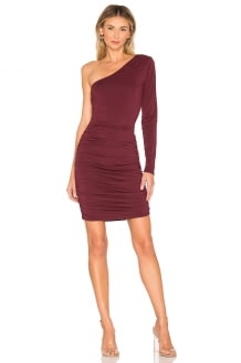 bobi One Shoulder Bodycon Dress