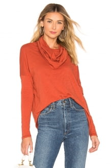 bobi Cowl Neck Long Sleeve Top