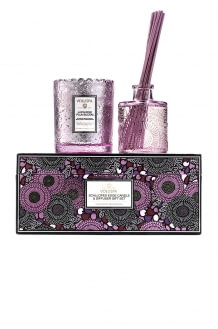 VOLUSPA Japanese Plum Bloom Scalloped Candle & Diffuser Gift Set