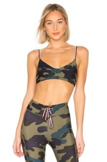 The Upside Army Camo Ballet Bra