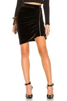 1. STATE Zip Velvet Mini Skirt