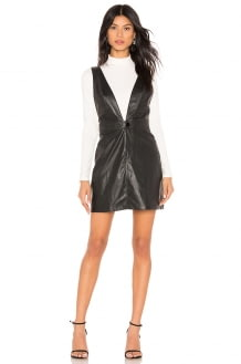 Show Me Your Mumu Baxter Faux Leather Overall Dress