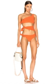 Lisa Marie Fernandez Bianca Crepe Maillot Swimsuit