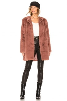 BB Dakota Love You Furever Faux Fur Coat