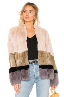 HEARTLOOM Chandler Rabbit Fur Jacket