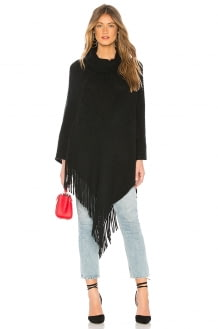 Michael Stars Draped In Texture Poncho