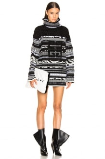Givenchy 4G Stitched Printed Oversized Turtleneck Sweater