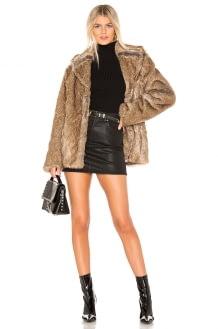 Unreal Fur Earth Star Faux Fur Jacket