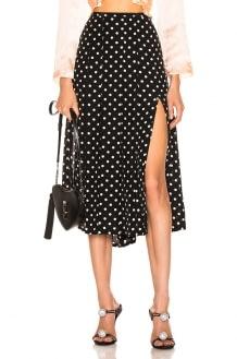 RIXO Georgia Pearl Spot Skirt
