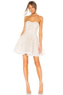 aijek Faith Embroidered Bustier Dress
