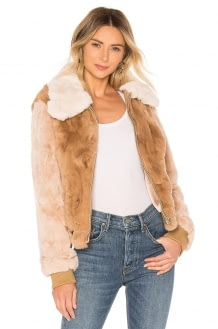 HEARTLOOM Ryder Rabbit Fur Jacket