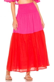 ANAAK Mai Colorblock Maxi Skirt