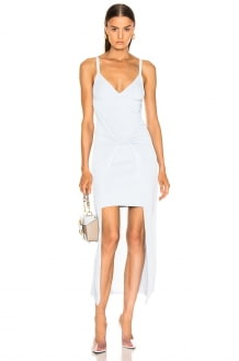 Dion Lee Sheer Solid Twist Dress