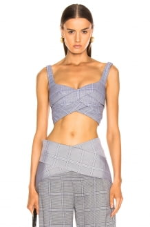 Dion Lee Double Faced Check Bustier