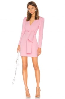 MSGM Tie Front Mini Dress