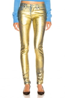 TRE by Natalie Ratabesi Gold Edith Pants