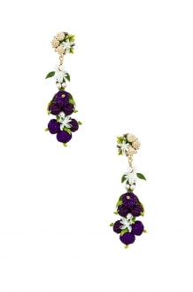 Mercedes Salazar Blueberry Tropics Earrings