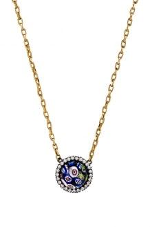 Elizabeth Cole Floral Pendant Necklace
