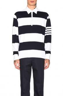 Thom Browne Oversized 4 Bar Rugby Polo