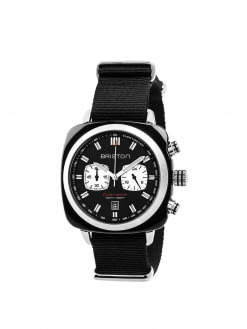 BRISTON Briston Clubmaster Sport Acetate Chronograph Black With Black Dial