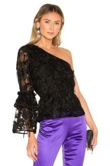 Cynthia Rowley Ruffle Sleeve Lace Top