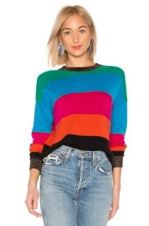 Pam & Gela Crop Striped Sweater