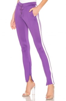 Pam & Gela Cigarette Pant With Double Stripes