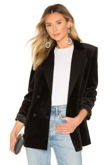 Theory Stretch Velvet Tuxedo Jacket