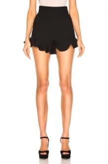 MSGM Crepe Ruffle Shorts