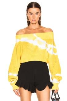 MSGM Marina Tie Dye Off Shoulder Sweater