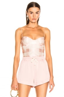 Brock Collection Check Bustier Top