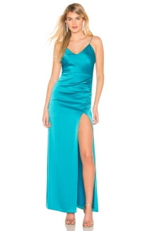 Alice + Olivia Fallon Ruched Gown