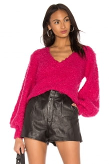 C/MEO Coco Knit Sweater In Rose Red