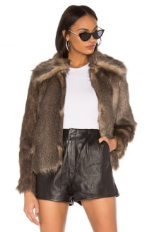 MCGUIRE The French 75 Faux Fur Jacket