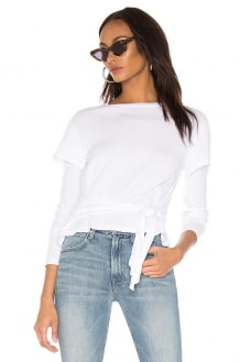 Monrow Double Layer Front Tie Top