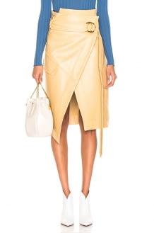 Petar Petrov Leather Rita Skirt
