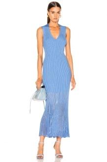 Victoria Beckham V Neck Rib Dress