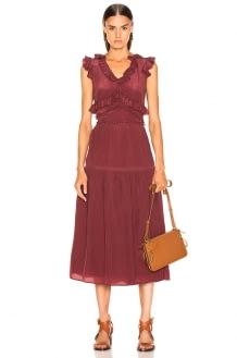 SEA Hemingway Sleeveless Ruffle Dress