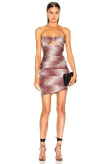 ALEXANDRE VAUTHIER Dot Twill Strapless Dress