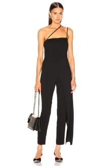 Michelle Mason Asymmetrical Strap Jumpsuit