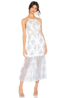 X by NBD Felicity Embroidered Dress