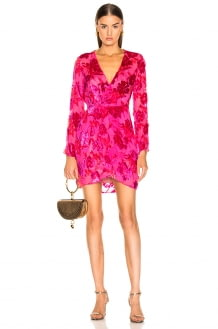 Fleur Du Mal Fil Coupe Mini Wrap Dress