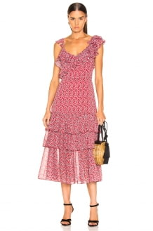 Marissa Webb Lisandra Print Dress