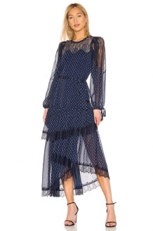 BCBGMAXAZRIA Lace Tiered Dress